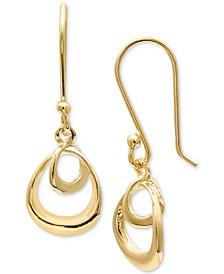 Double Teardrop Drop Earrings in 18k Gold-Plated Sterling Silver, Created for Macy's