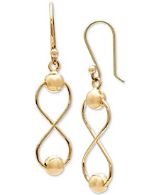 Infinity Drop Earrings in 18k Gold-Plated Sterling Silver, Created for Macy's