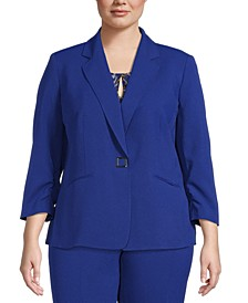 Plus Snap-Front Blazer