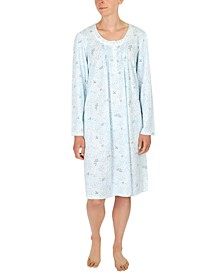 Plus Size Brushed Honeycomb Nightgown