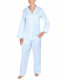 Printed Brushed Back Satin Pajama Set