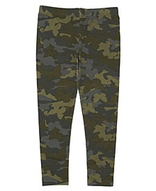 Toddler Girls All Over Camo Print Mix and Match Knit Legging