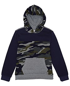 Big Boys Camo Hooded Fleece Pullover