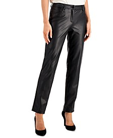 Vegan Leather Ankle Pants
