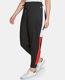 Tommy Hilfiger Sport Plus Size Varsity Side-Panel Jogger Sweatpants