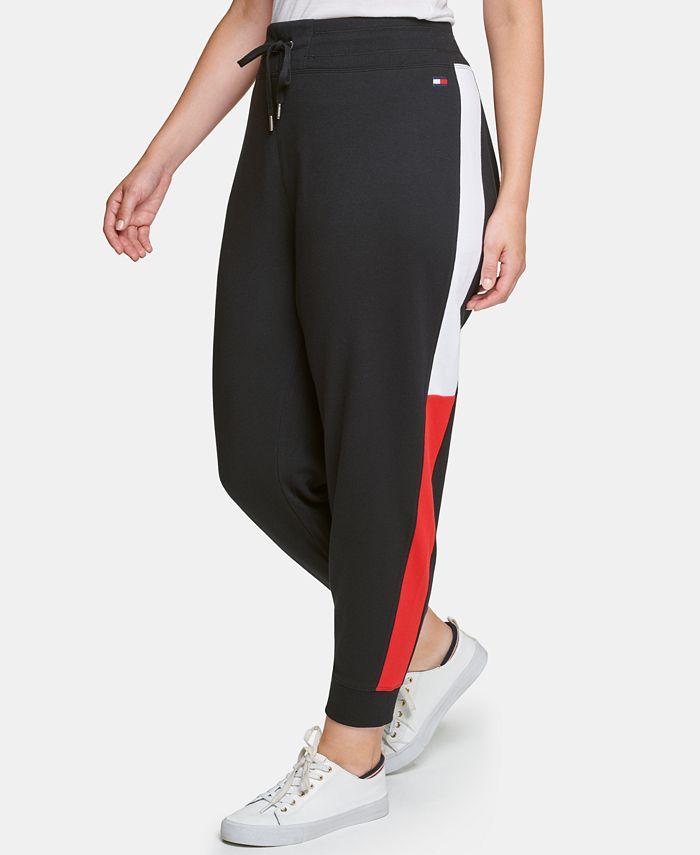 Tommy Hilfiger - Plus Size Varsity Side-Panel Jogger Sweatpants