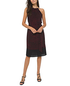 Michael Michael Kors Printed Halter-Neck Dress