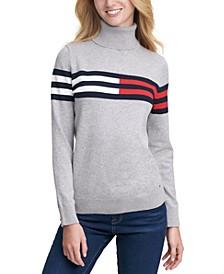 Colorblocked Turtleneck Sweater