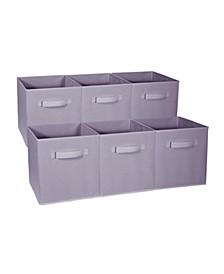 Foldable 6-Pk. Storage Cube Basket Bins