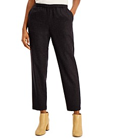 Tapered Pull-On Ankle Pants