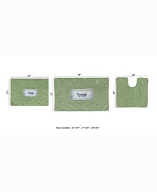 Naples Bath Rug, 3 Piece Set