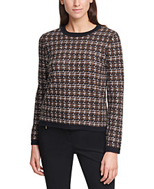 Calvin Klein Crewneck Tweed Sweater
