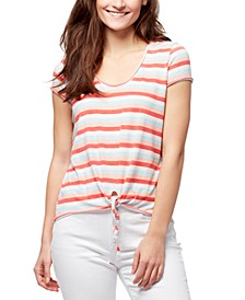 Astrid Striped Tie-Front T-Shirt