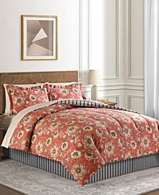 Francie 6-Pc. Reversible Twin XL Comforter Set