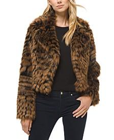 Animal-Print Faux-Fur Jacket