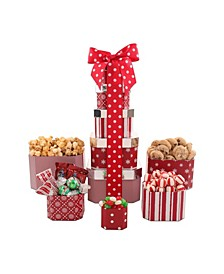 Candy Cane Lane Gift Tower