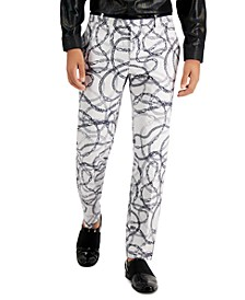 INC Men's Slim-Fit Chain Print Dress Pants, Created for Macy's