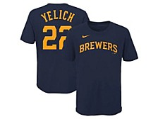 Milwaukee Brewers Youth Name and Number Player T-Shirt Christian Yelich