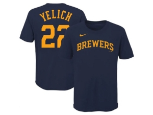 Nike Milwaukee Brewers Youth Name and Number Player T-Shirt Christian Yelich