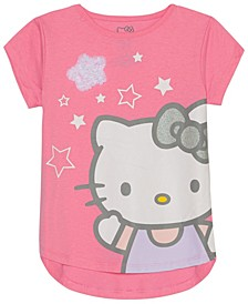 Little Girls Stars Graphic T-Shirt