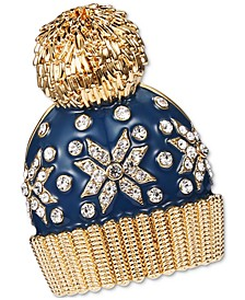 Gold-Tone Crystal Snowflake Hat Pin, Created for Macy's