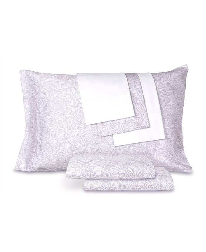 AQ Textiles - Collier Campbell 6 Pc Sheet Sets, 300 Thread Count Cotton Blend