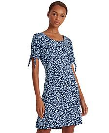 Floral Jersey Peplum Dress