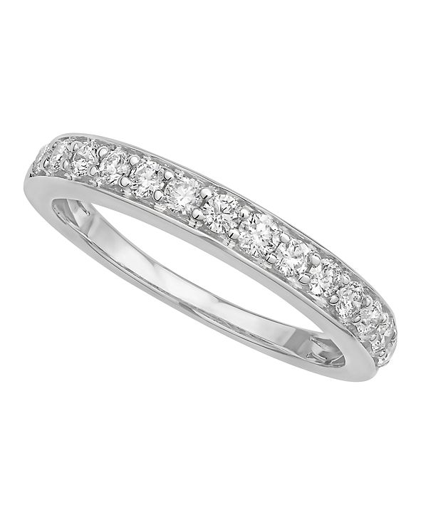 Macy's Certified Diamond Pave Band 1/2 ct. t.w. in 14k White or Yellow Gold
