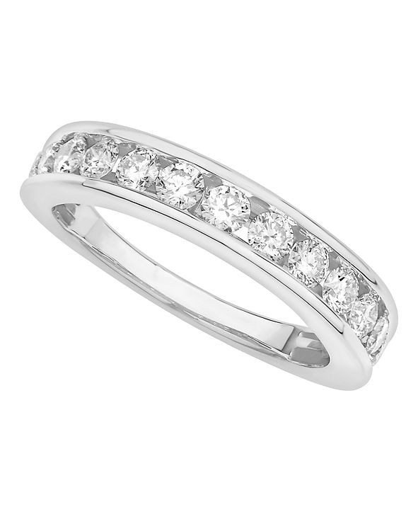 Macy's Certified Diamond Channel Band 1 ct. t.w. in 14k White or Yellow Gold