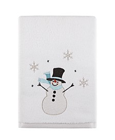 "Silver Snowman 27"" x 50"" Bath Towel, Created for Macy's"