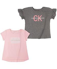 Big Girls Ck Logo Two Pack Tees