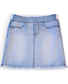 Big Girls Pull On Denim Skirt