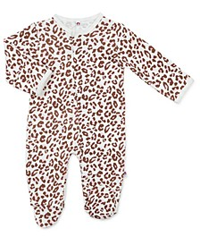 Baby Girl Pink Leopard Magnetic Footie