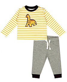 Earth Organic Baby Boy 2-Piece Bryan Pant Set