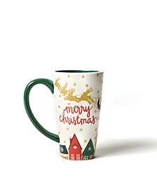 Retro Christmas Village Mug