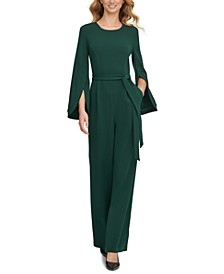 Cape-Sleeve Jumpsuit