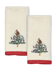 Christmas Trees Fingertip Towels, 2 Piece