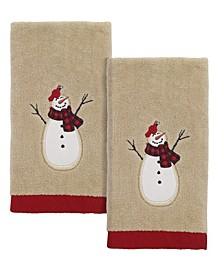 Snowman Gathering Fingertip Towels, 2 Piece