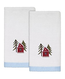Christmas Village Fingertip Towels, 2 Piece
