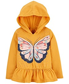 Baby Girl Butterfly Jersey Hooded Tee
