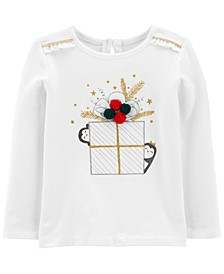 Toddler Girl Christmas Jersey Tee
