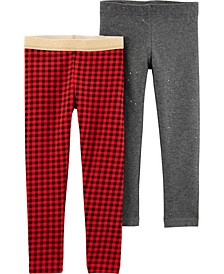 Toddler Girl 2-Pack Holiday Leggings