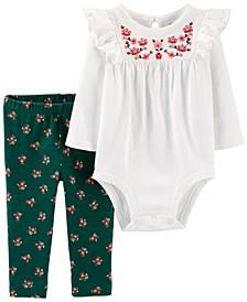 Baby Girl 2-Piece Bodysuit Pant Set