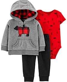 Baby Boy 3-Piece Bear Little Jacket Set