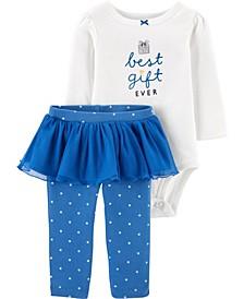 Baby Girl 2-Piece Hanukkah Bodysuit & Tutu Pant Set