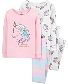 Little Girl 4-Piece 100% Snug Fit Cotton PJs
