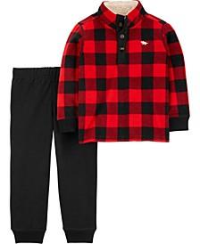 Toddler Boy 2-Piece Buffalo Check Pullover & Jogger Set
