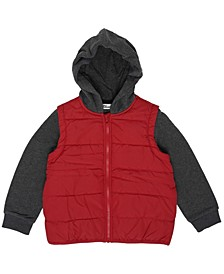 Toddler Boys Solid Hooded Full Zip Jacket