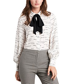Camille Printed Bow Top, Created For Macy's