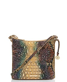 Katie Ombre Melbourne Embossed Leather Crossbody
